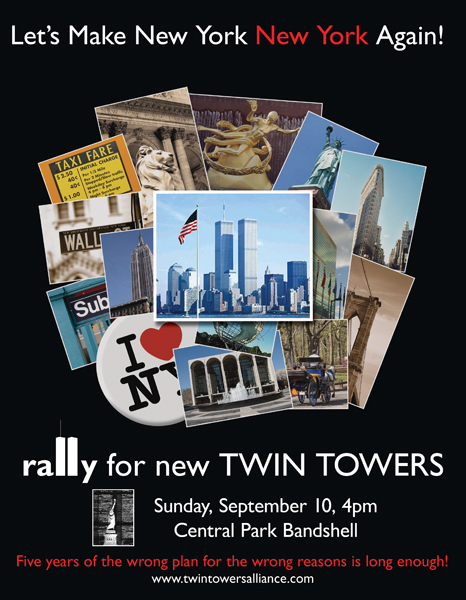 Rally For New Twin Towers